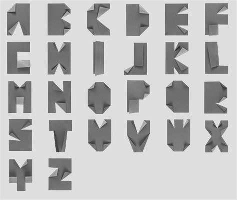 Origami Typography - dise 241 o grafico de letras 171 la tipografia