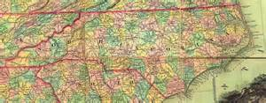 carolina counties map