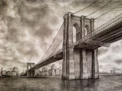 bridge pencil sketch www pixshark com images galleries