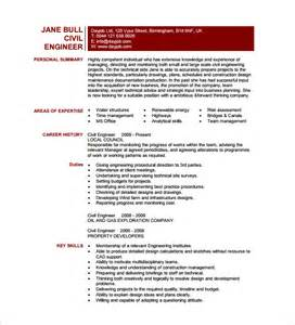Civil Engineer Resume Template ? 10  Free Word, Excel, PDF