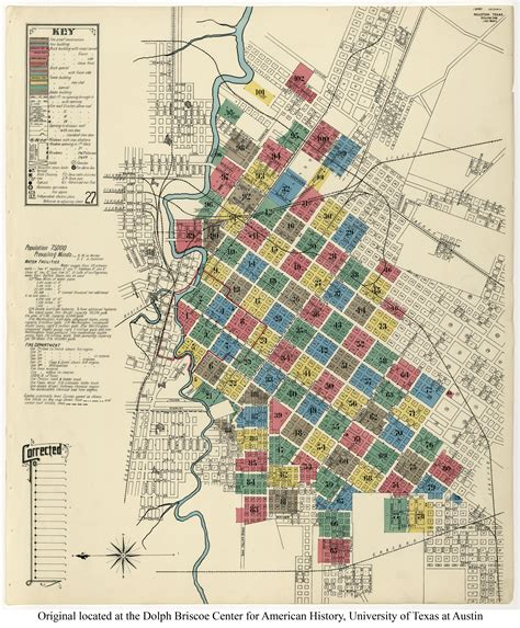 city houston key map sanborn maps 171 the macatees and early houston