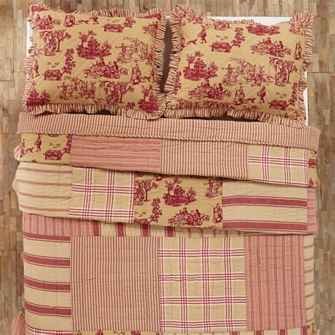Country Patchwork - elaine patchwork toile quilt teton
