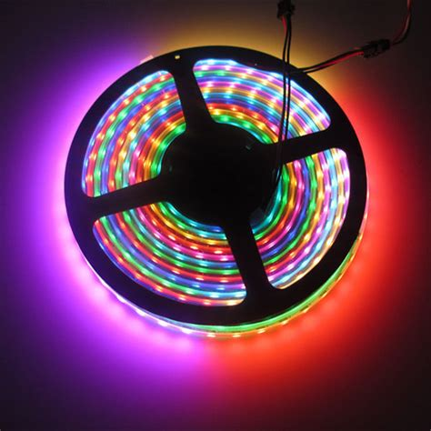 Light Tape Ws2812b Led Strips 74 Pcs M Lights Rgb Tubes Rgb Led Lighting Strips
