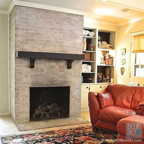painted brick fireplace makeover how brick fireplace makeover with fusion mineral paint hometalk