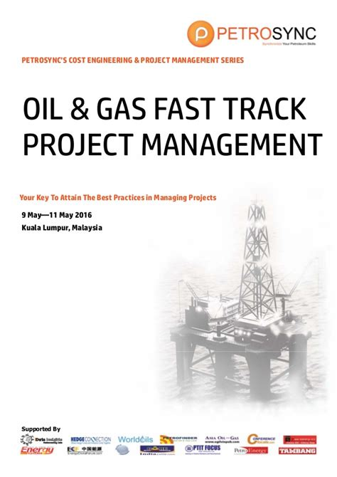 Best Mba For And Gas by Petrosync Gas Fast Track Project Management