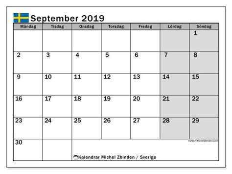 kalender september  sverige michel zbinden sv