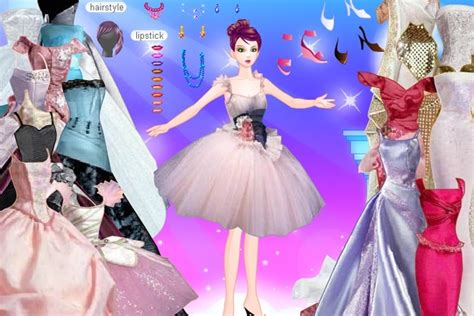 barbie gowns dress  game play  barbie games