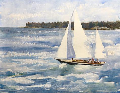 sailing boat watercolour sailing watercolor paintings defendbigbird
