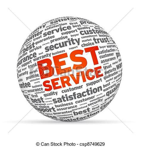 What Is The Best Search Service Stock Illustration Of Best Service 3d Sphere On White Background Csp8749629 Search