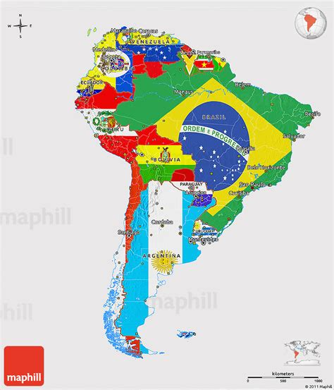 south america map and flags south america flag map www pixshark images