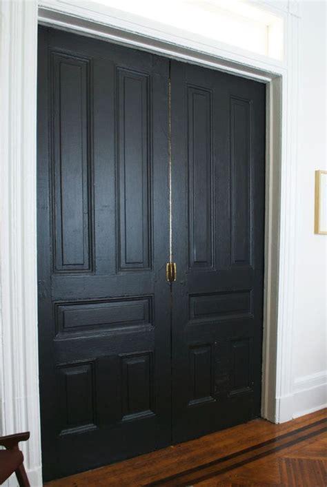 benjamin moore door paint pocket doors in onyx by benjamin moore pearl finish via
