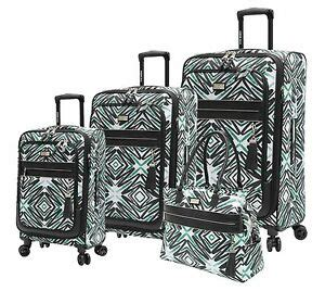 new steve madden tribal luggage 4 expandable suitcase with spinner wheels ebay