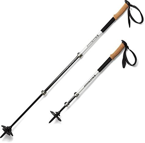 Harga Trekking Pole Black by Black Alpine Trekking Poles One Size Carbon Cork
