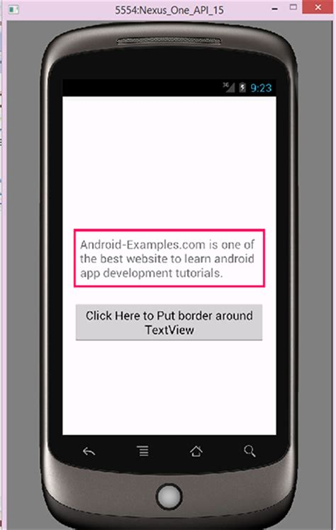 textview android add border to textview android programmatically android