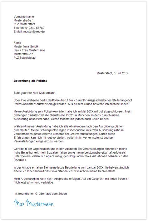 Anschreiben Praktikum Polizei 9 Bewerbungsanschreiben Polizei Resignation Format