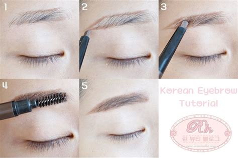 tutorial makeup korea pemula tutorial how to make korean straight eyebrow 101 beauty