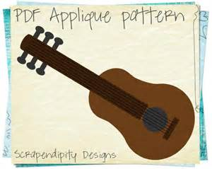 guitar applique by scrapendipity quilting pattern