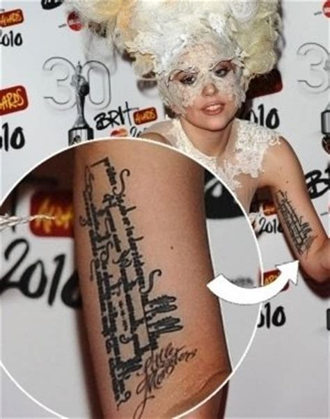 lady gaga little monsters tattoo on her wrist