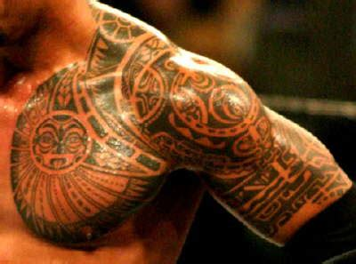 tribal tattoos like the rock dwayne johnson the rock