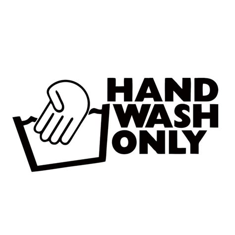 decorate hand wash 2018 new style hand wash only sticker vinyl decal car