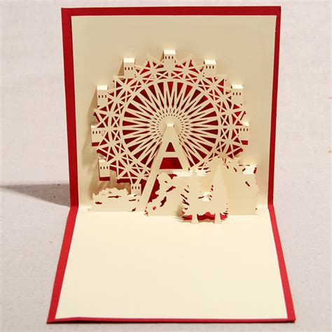3d Handmade Cards - birthday handmade three dimensional commercial 3d stereo