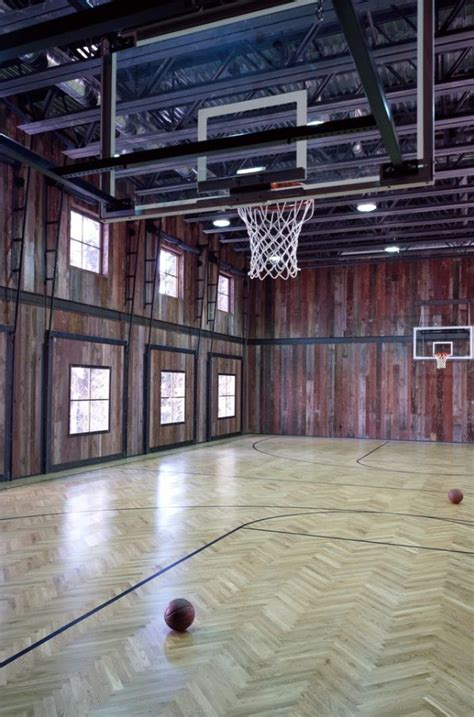barn turned   basketball courttotally cool