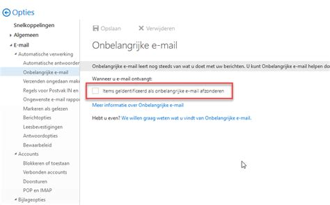 Office 365 Outlook Compatibility Compatible Office365 Uitschakelen Onbelangrijke E Mail
