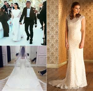 Kim Kardashian inspired wedding dresses