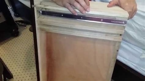 How To Install A Drawer Slide by Dresser Drawer Repair Installing Mount Drawer