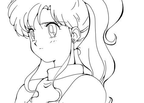 manga girl coloring page anime coloring page 9 sailor jupiter makoto kino by
