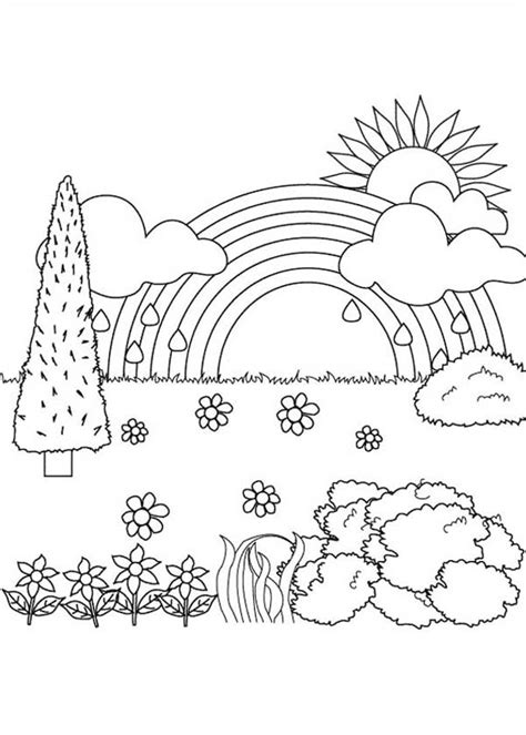 coloring book views landscape nature coloring pages gallery