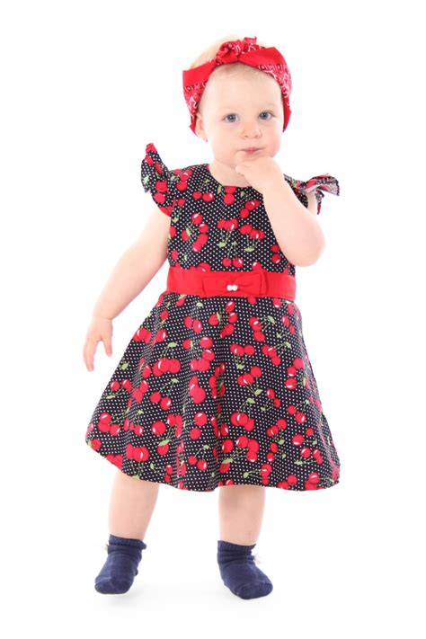 swing kleid polka dots sugarshock maila 50s cherries polka dots cherry children