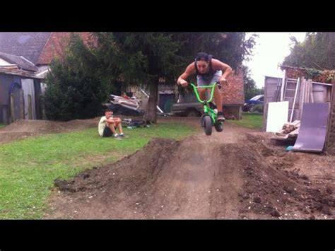 backyard freestyle mini bmx freestyle pump track chaney guennet youtube