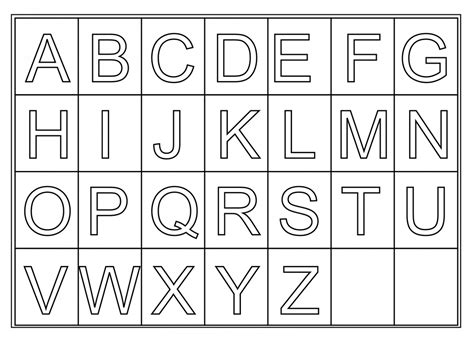 free printable letters with pictures free alphabet printables for preschool paper worksheets