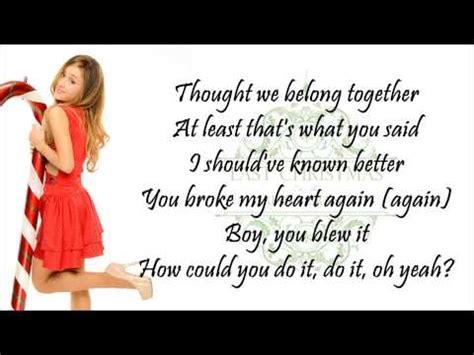 last testo last i gave you my lyrics grande