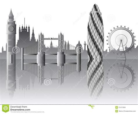 vector london skyline royalty  stock images image