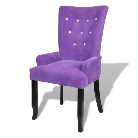 purple armchair armchair dining chair black wood velvet coated purple