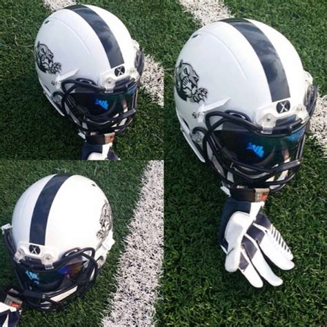 How To Make A Football Helmet Out Of Paper - check out the football helmet setup for the leyden lions