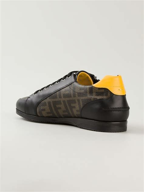 fendi sneakers fendi wimbledon sneakers in black for lyst