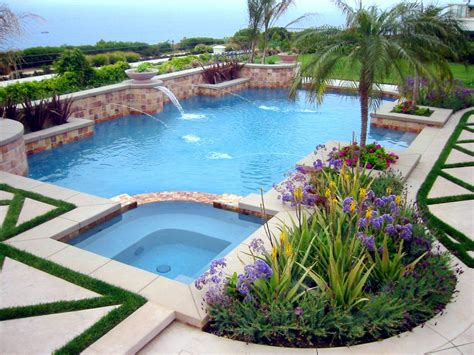 poolside landscaping the most beautiful tropical style swimming pool design