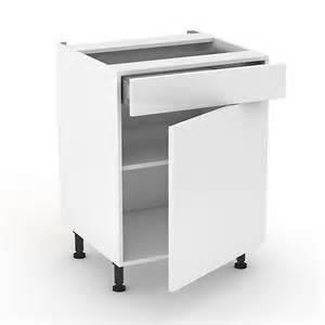 meuble de cuisine bas blanc 1 tiroir 1 porte 60cm