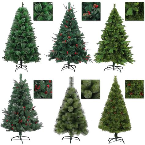 artificial christmas tree 3 pcs sets luxurious artificial tree looking 4ft 5ft 6ft 7ft 8ft ebay