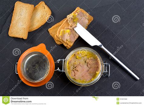 canard foie gras pate made of the liver of a duck stock