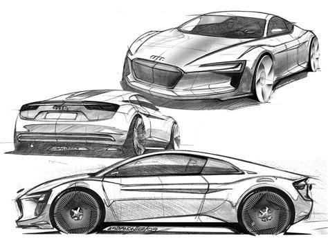 design car audi e tron concept design sketch 2 lg supercar sketches