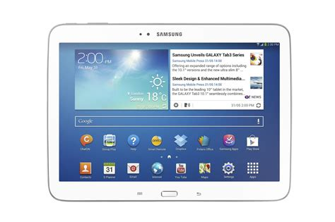 Samsung Tab 3 10 Inch Second samsung announces the galaxy tab 3 in 8 inch and 10 1 inch flavors launching in early june