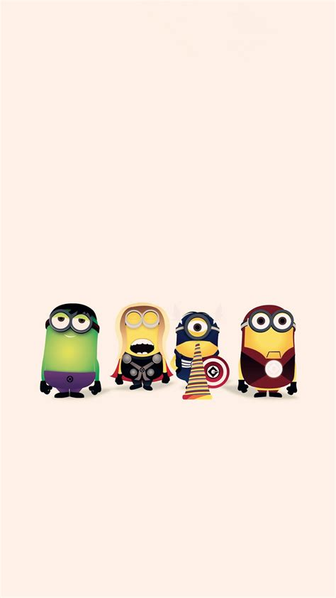 superheroes wallpaper hd cartoon avengers minion apple
