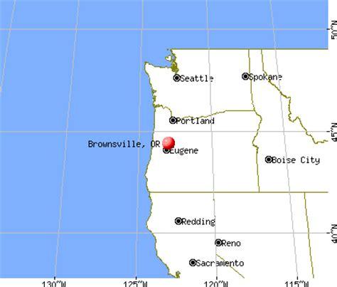 brownsville oregon map brownsville oregon or 97327 profile population maps