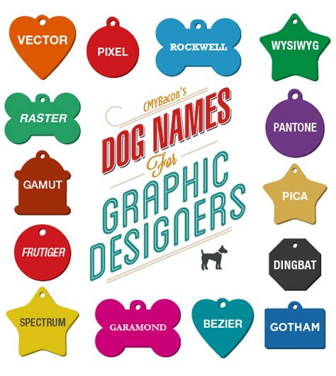 creative names for dogs names for graphic designers by cmybacon