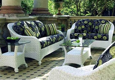 White Resin Wicker Patio Furniture Home Outdoor White Outdoor Wicker Furniture