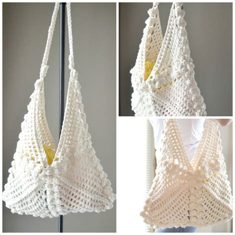 crochet thread bag pattern crochet pattern hanna hobo bag crochet bag by cassjamesdesigns